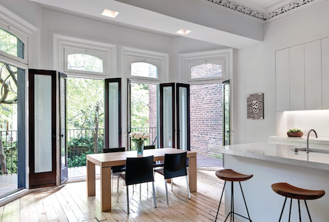 Restored New York Brownstone Meets Functional Modernity